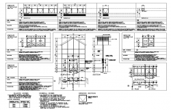 Glazing door and window structure detail elevation 2d view layout file