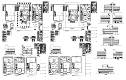 Global hospital detail elevation and plan layout autocad file