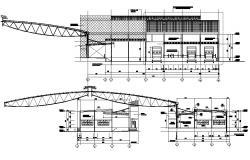 Godown design plan CAD drawing download