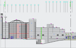 Government Building Elevation design dwg file