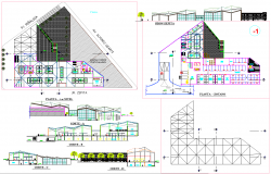 Government Building project detail dwg file