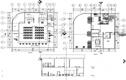 Government Court Plan dwg file