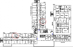 Government Hospital Architecture Layout dwg file