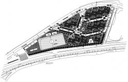 Government Residential Area CAD Plan
