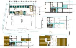 Govt. building plan detail dwg file