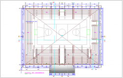 Grades plan with architectural view dwg file