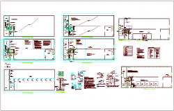 Granite building design view with renovation view of foundation,electric and water line view dwg file