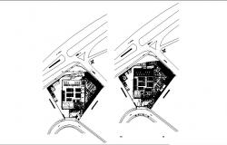 Graphic expression geriatric center floor plan details dwg file