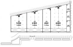 Gross building area details CAD drawiing