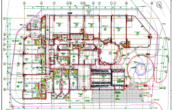 Ground Floor Block Layout Plan of Marina Residence Dubai dwg file