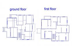 Ground and first floor framing plan details of house dwg file