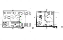 Ground and first floor plan details of bar dwg file