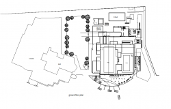 Ground floor Commercial building plan detail dwg file