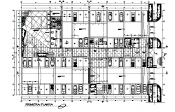 Ground floor Commercial working plan detail dwg file