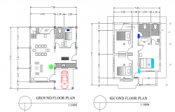 Ground floor and second floor layout plan