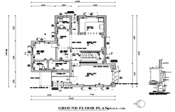 Ground floor bungalow plan autocad file