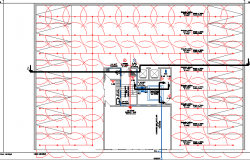 Ground floor details of natural gas building dwg file