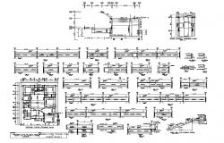 Ground floor framing plan and other constructive detail CAD structure layout autocad file
