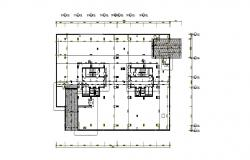Ground floor framing plan details for office building in china dwg file