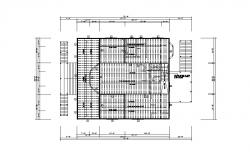 Ground floor framing plan of house cad drawing details dwg file