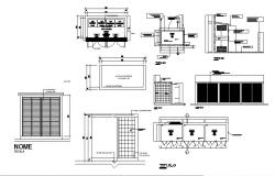 Ground floor garbage deposit structure cad drawing details dwg file