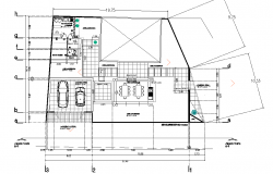 Ground floor house plan autocad file