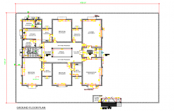 Ground floor house plan detail dwg file