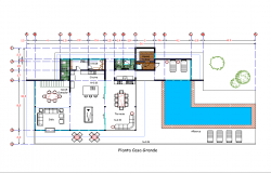 Ground floor house planning detail dwg file