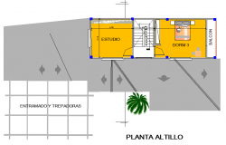 Ground floor house plot detail dwg file