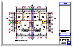 Ground floor layout design drawing of residential building design drawing
