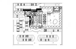 Ground floor layout plan details of family restaurant cad drawing details dwg file