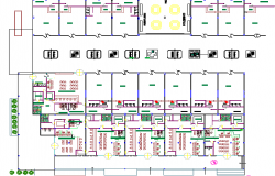 Ground floor layout plan details of shopping mall dwg file