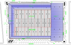 Ground floor layout plan details of super market dwg file
