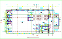 Ground floor plan design view for government building dwg file