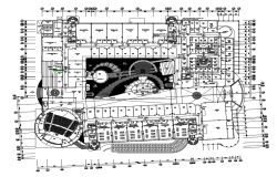 Ground floor plan details of medical college dwg file