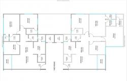 Ground floor plan details of one family house cad drawing details pdf file