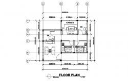 Ground floor plan details of small house cad drawing details dwg file