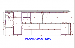 Ground floor plan for social building dwg file