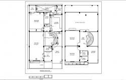 Apartment Ground Floor Plan In AutoCAD File