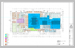 Ground floor plan of an industrial building detail 2d view layout file