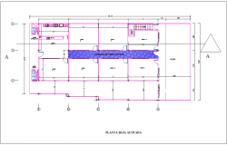 Ground floor plan of housing dwg file