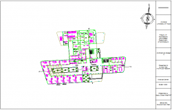 Ground floor plan of medical center dwg file