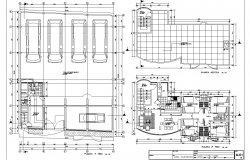 Ground floor plan to terrace floor plan detail dwg file
