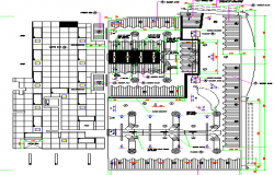 Ground floor reflection ceiling plan details of restaurant dwg file