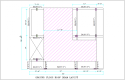 Ground floor roof beam layout for office dwg file