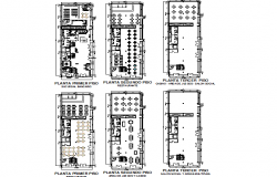 Ground floor to terrace floor plan detail dwg file