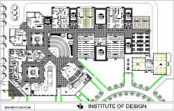 Ground floor working plan detail dwg file