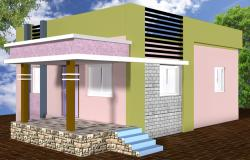 Ground Floor 3D simple home design