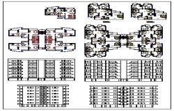 Group housing design drawing flat type design drawing