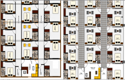 Guest house hotel architecture layout plan details dwg file
